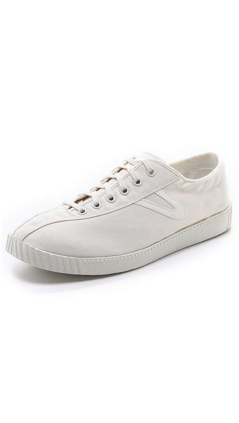 tretorn sneakers tretorn nylite canvas sneakers in white for white