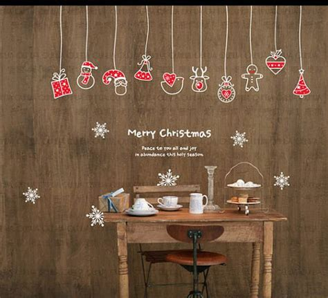 Full Wall Mural Decals christmas decoration mural art wall window deco diy sticker
