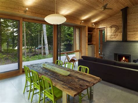 modern cottage interior ultra modern cabin blends rustic warmth with modern minimalism