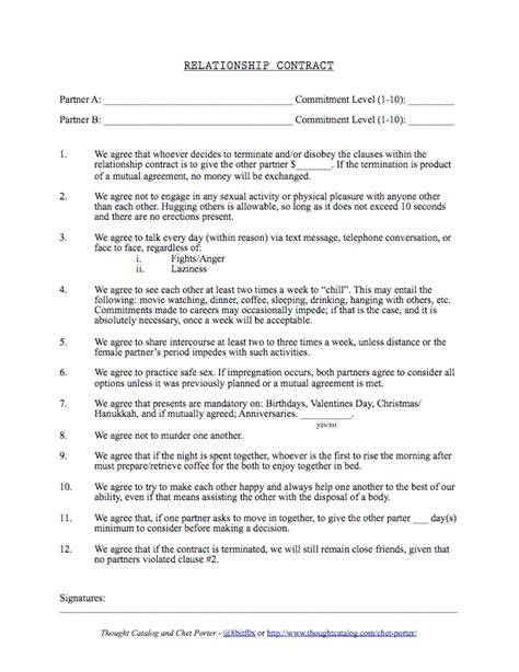 relations agreement template relationship contract templates find word templates