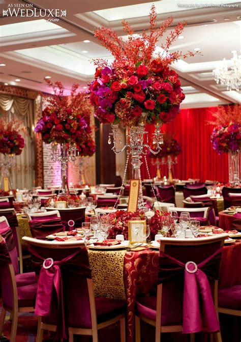 WedLuxe: luxe, red and gold wedding featured in WedLuxe