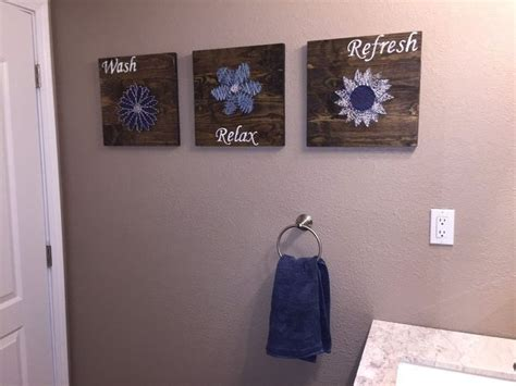 bathroom craft ideas diy bathroom wall art string art to add a pop of color