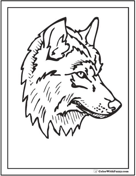 coloring page wolf head wolf coloring pages print and customize