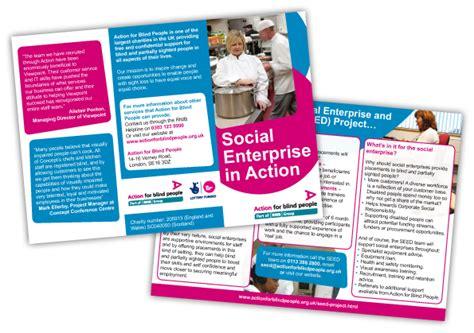leaflet design rules action for blind people leaflet new start design