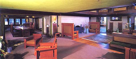 dana thomas house interior frank lloyd wright