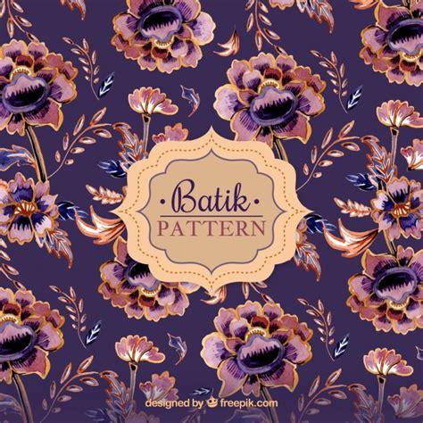 floral pattern batik vintage flower pattern in batik style vector free download