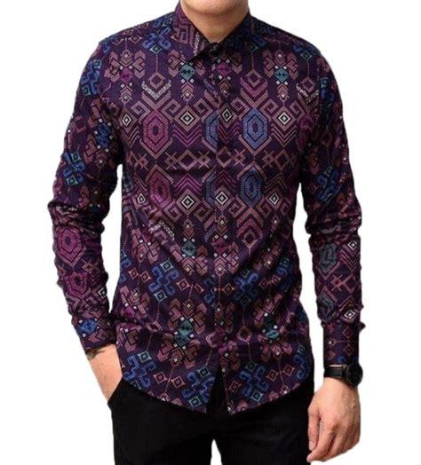 Baju Batik Lengan Panjang Pria 23 Baju Batik Pria Lengan Panjang Terbaru 2018 Model