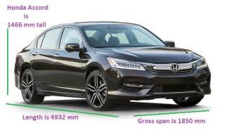 honda accord dimensions length width height ground