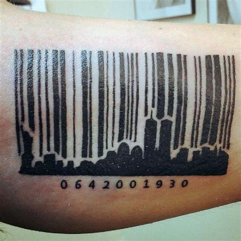 barcode tattoo hand 30 barcode tattoo designs f 252 r m 228 nner parallel line ink