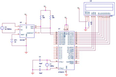 ds1307 circuit diagram rtc microcontroller elec intro website