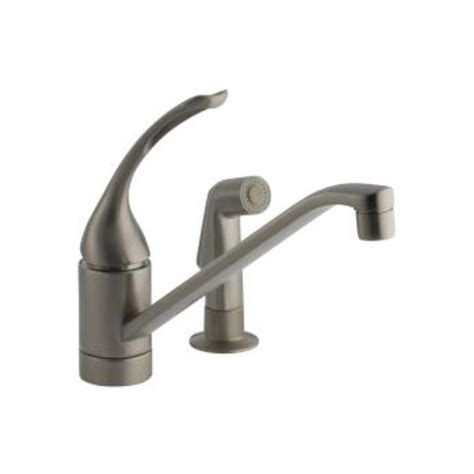 kohler coralais 2 handle standard kitchen faucet in kohler coralais single handle kitchen faucet sprayhead