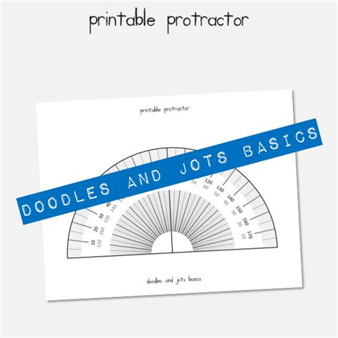 printable protractor cards printable protractor doodles and jots