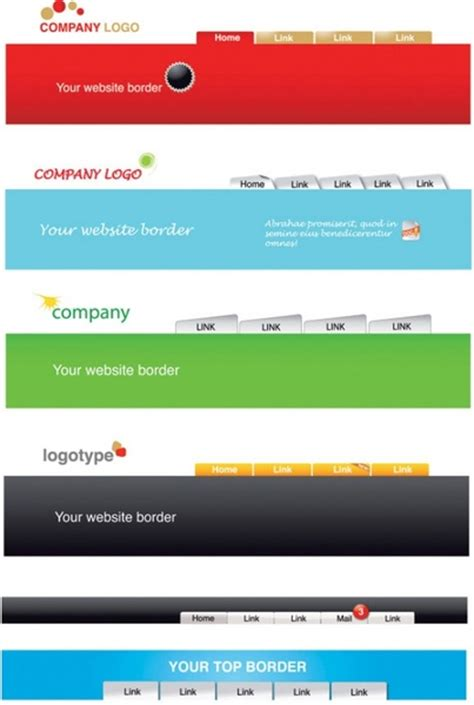 header footer html template header templates free