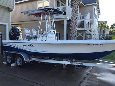 blue wave boat t top blue wave 2200 pure bay boats for sale