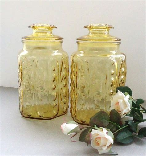 129 best yellow canisters images on pinterest vintage kitchen 14 best images about yellow glass on pinterest