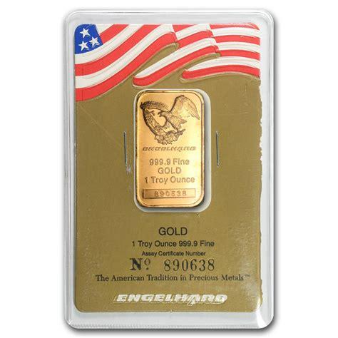 1 oz silver bar engelhard eagle design 1 oz gold bar engelhard eagle logo in assay