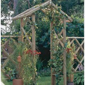 Garden Arch Wood The Forest Arch Is A Sturdy Wooden Garden Arch