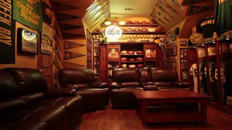 Green Bay Packers Home Decor by The Ultimate Green Bay Packers Fan Cave Youtube
