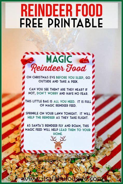 printable magic reindeer food magic reindeer food poem free printable also includes