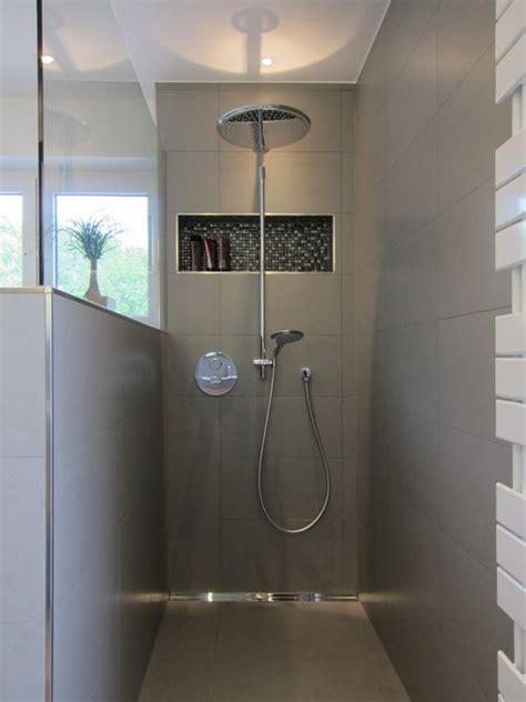 badezimmerdusche design fishzero dusche gemauert mit glas verschiedene