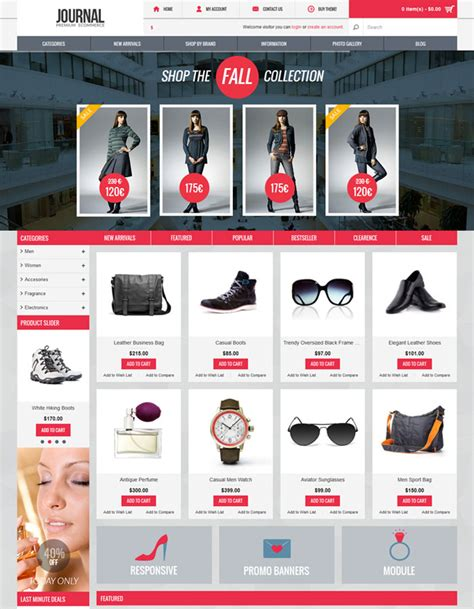 journal opencart template image collections templates