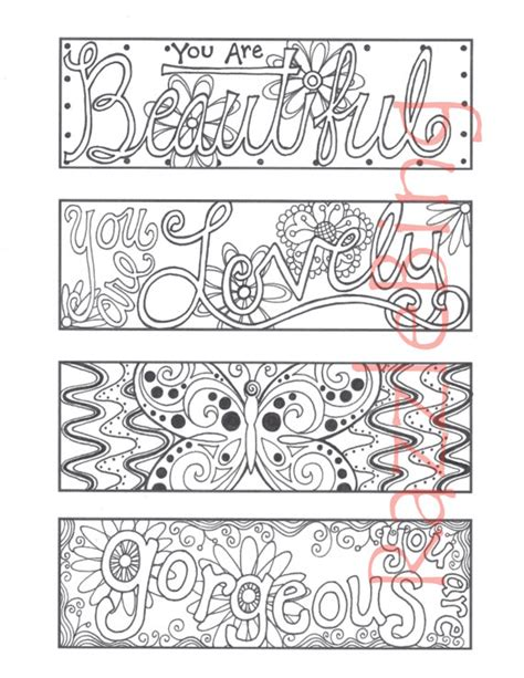 libro mums colouring book of diy bookmark printable coloring page zentangle inspired