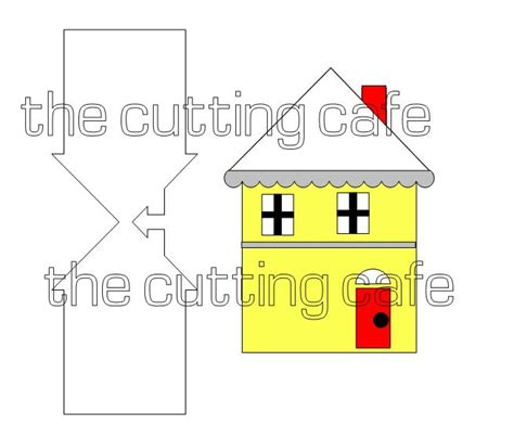 template card photo home house the cutting cafe house shaped card envelope template
