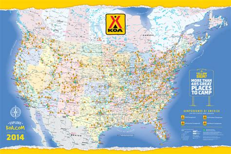 koa cgrounds usa map map of koa in usa s pictures to pin on pinsdaddy