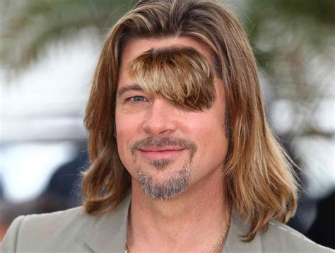 hairstyles for foreheads that stick out on a brad pitt decides to grow out forehead hair brad pitt