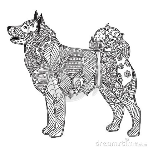 dog adult antistress  children coloring page stock vector image