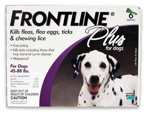 flea and tick repellent for dogs best merial frontline plus flea and tick for dogs