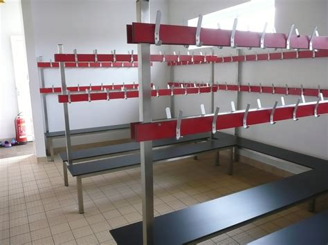 cloakroom bench installations ese projects mezzanine