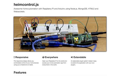 heimcontroljs pi arduino home automation heimcontrol js