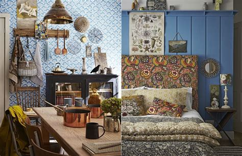 home design furnishings blue bohemian interior design with vintage style