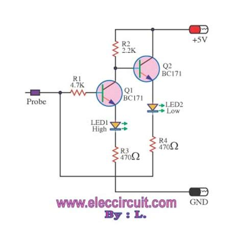 miniature logic integrated circuits many logic probe circuit ideas electronic projects circuits
