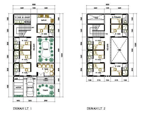 desain rumah kos kosan yang sehat dan arsitektural eramuslim