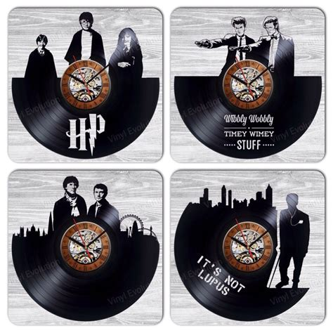 Vinyl Record Decorations by Wall Clock Made Of Vinyl Record Awesom Home Decoration Or