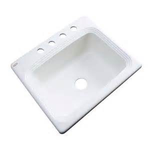 kitchen sinks rochester ny thermocast rochester drop in acrylic 25 in 4 hole single