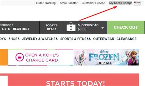 make kohls credit card payment pay your kohls charge mycheckweb