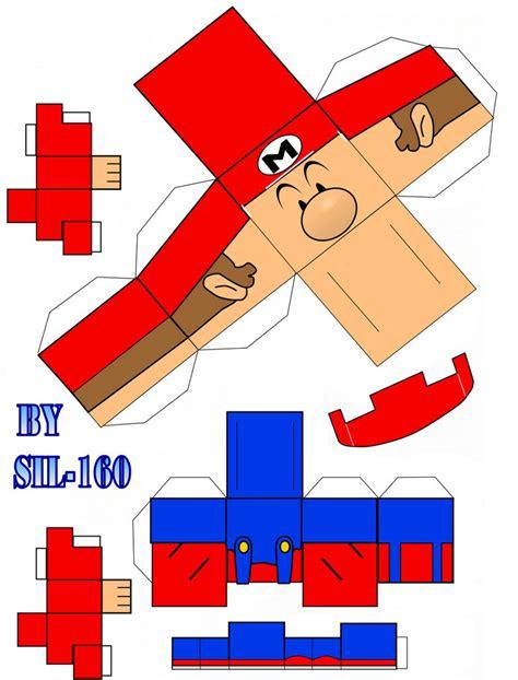 Papercraft Mario - mini mario cubeecraft papercraft by marcokobashigawa