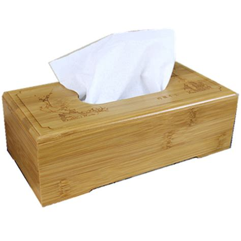 tissue holder rustic bamboo tissue box cover wood drawer quality flip