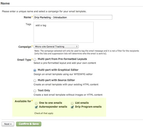 template to type in designate email template types salesforce pardot
