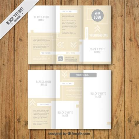 elegant brochure template vector free download