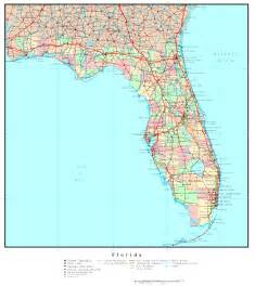 florida map with towns florida political map
