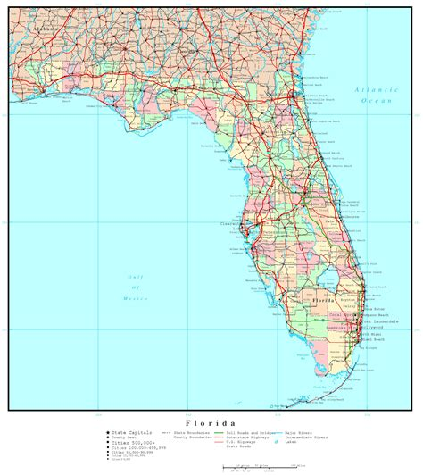 florida cities map florida political map