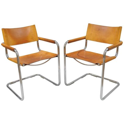 ebay armchairs for sale pair of cognac leather mart stam for fasem s34 dining