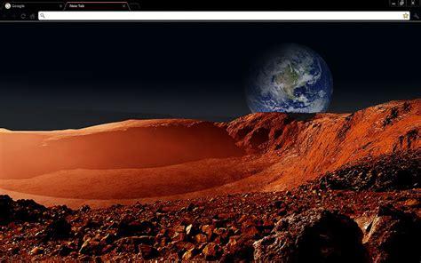 chrome themes landscape martian landscape space chrome web store