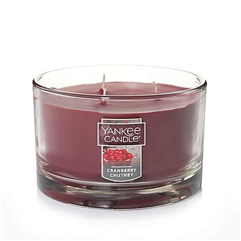 bed bath and beyond cranberry yankee candle 174 cranberry chutney 3 wick candle bed bath