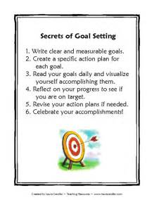 goal setting for middle school students template education world secrets of goal setting template
