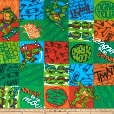 ninja pattern fabric nickelodeon s teenage mutant ninja turtles fleece green